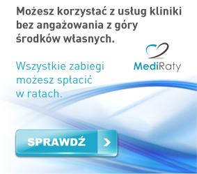 MediRaty - sprawdź korzystne warunki leczenia w ratalnym systemie płatności.